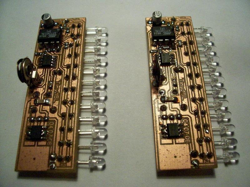 Робин ван Aрем разработал оригинальную схему цифрового светодиодного индикатора уровня для аудиоаппаратуры - Digital...
