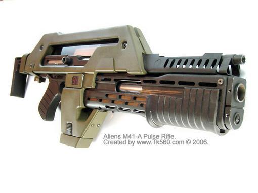10 мм импульсная штурмовая винтовка с воздушным охлаждением. Является основным оружием U.S. Colonial Marine Corps и  .... - Изображение 1