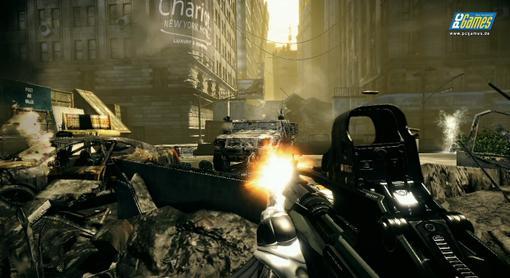 Немецкий сайт PCGames опубликовал два геймплейных скриншота игры Crysis 2.. - Изображение 1