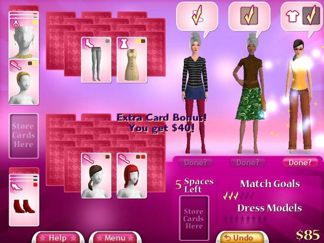 dress style games online solitaire