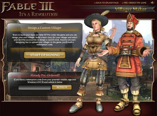На сайте игры Fable III появилась возможность создать своего жителя виртуальной страны. Для этого нужно выбрать его  .... - Изображение 1