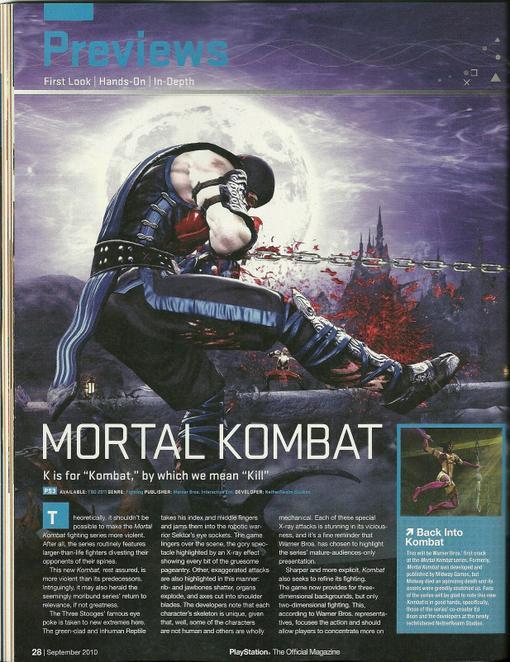 В PSM появилось превью нового и горячо ожидаемого Mortal Kombat (2011). В нем были подтверждены еще семь основных пе .... - Изображение 2