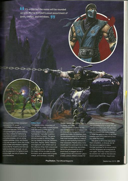 В PSM появилось превью нового и горячо ожидаемого Mortal Kombat (2011). В нем были подтверждены еще семь основных пе .... - Изображение 3