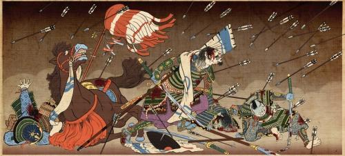 Сакура в цветуАлая хризантемаНа моей груди  Предсмертные стихи японского самурая.  Путь лука.Первоначально самураи п ... - Изображение 3