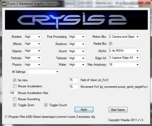 """В настройках Crysis 2 нет вкладки """"Advanced"""". Мне сложно придумать для этого логическую причину, которой могли бы ру ... - Изображение 1"""