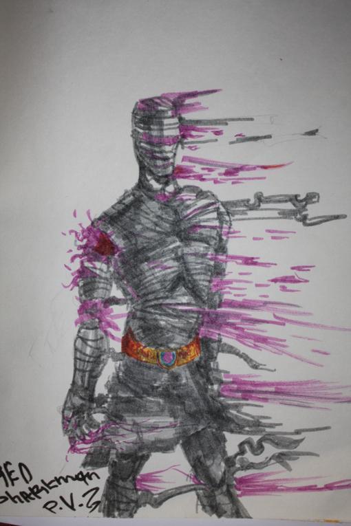 Недавно я купил маркера и вот решил опробовать .Все рисунки выполнены только маркером без использования карандаша .  ... - Изображение 3
