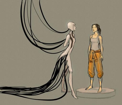 Художник Хизер Кемпбелл заставляет ГЛаДОС в её новом человеческом облике вновь приставать к Челл в новой, потрясающе ... - Изображение 1