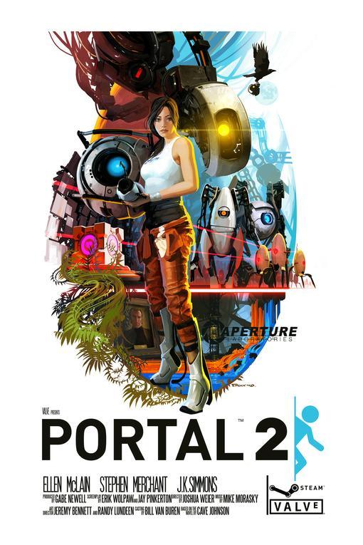 Сейчас наткнулся на довольно интересную работу одного художника. Тематика, Portal 2.Смотрим:. - Изображение 1
