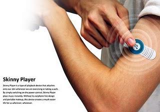Устройство под названием Skinny Player приклеивается к коже человека и питается от тепла, выделяемого телом.  Тайван ... - Изображение 2