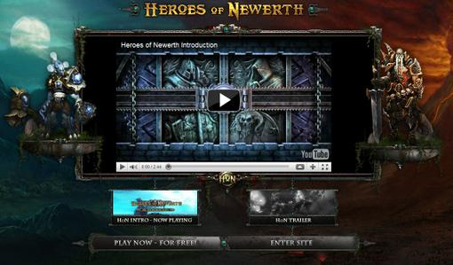 В очередной раз обновилась веб-страница Heroes of Newerth. Теперь при первом заходе нам показывают интро!  Страничка ... - Изображение 1