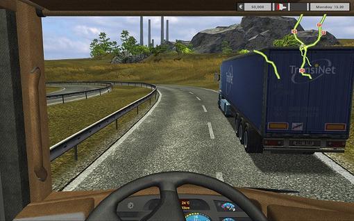Игра Euro truck simulator вышла в 2008 году от европейских разроботчиков. Игра является симулятором дальнобойщика. Э ... - Изображение 1