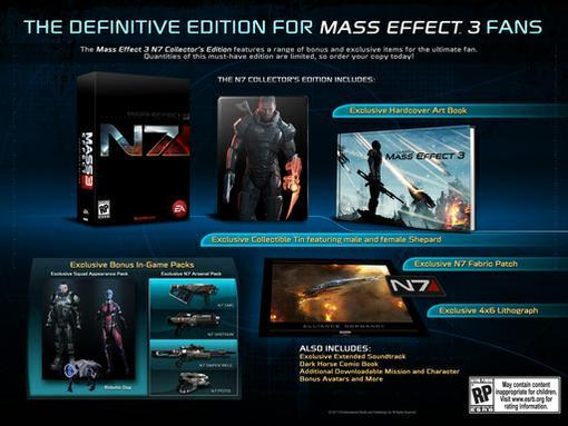 BioWare опубликовала содержимое коллекционного издания Mass Effect 3 под названием N7 Collector's Edition. В её сост ... - Изображение 1