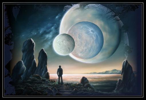 """Невиданная планетаОднажды человек научился летать в другие галактики и нечаянно наткнувшись на одну вселенную…""""кофня ... - Изображение 1"""