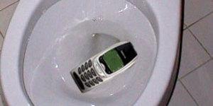 Каждый пятый владелец мобильника или смартфона ронял его в туалет.  А 40 процентов людей регулярно берут сотовый в о ... - Изображение 1