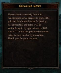 Как было сказано компанией Blizzard, вчера, Аукционный дом будет проходить тестирование в ближайшее время. Ну похоже .... - Изображение 1