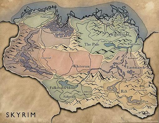 Bethesda опубликовала карту Скайрима, на которой теперь можно достаточно хорошо ориентироваться, просматривая игровы ... - Изображение 1