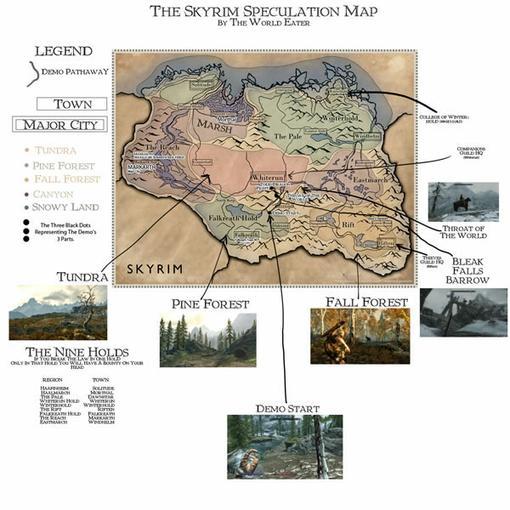 Bethesda опубликовала карту Скайрима, на которой теперь можно достаточно хорошо ориентироваться, просматривая игровы ... - Изображение 2