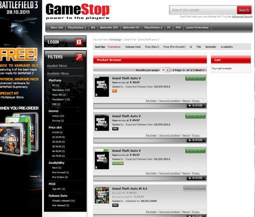 Ирландское подразделение Gamestop опубликовало предварительную дату релиза GTA5. Согласно их графику предварительных ... - Изображение 1