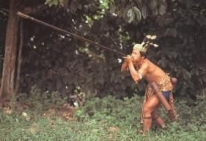 Духовая трубка - духовое оружие, представляющее собой полую трубку, которая направляет снаряд (обычно стрелку - умен ... - Изображение 2