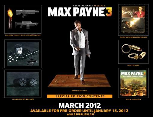 Только что опубликовали анонс коллекционного издания Max Payne 3.  В комплекте фигурка.Благо она не в виде Брюсоуилл ... - Изображение 1