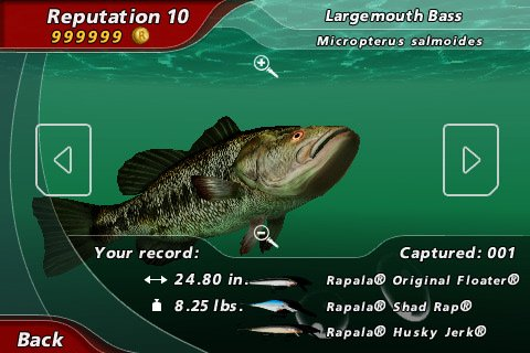Rapala pro bass fishing for Bass pro shop fishing games