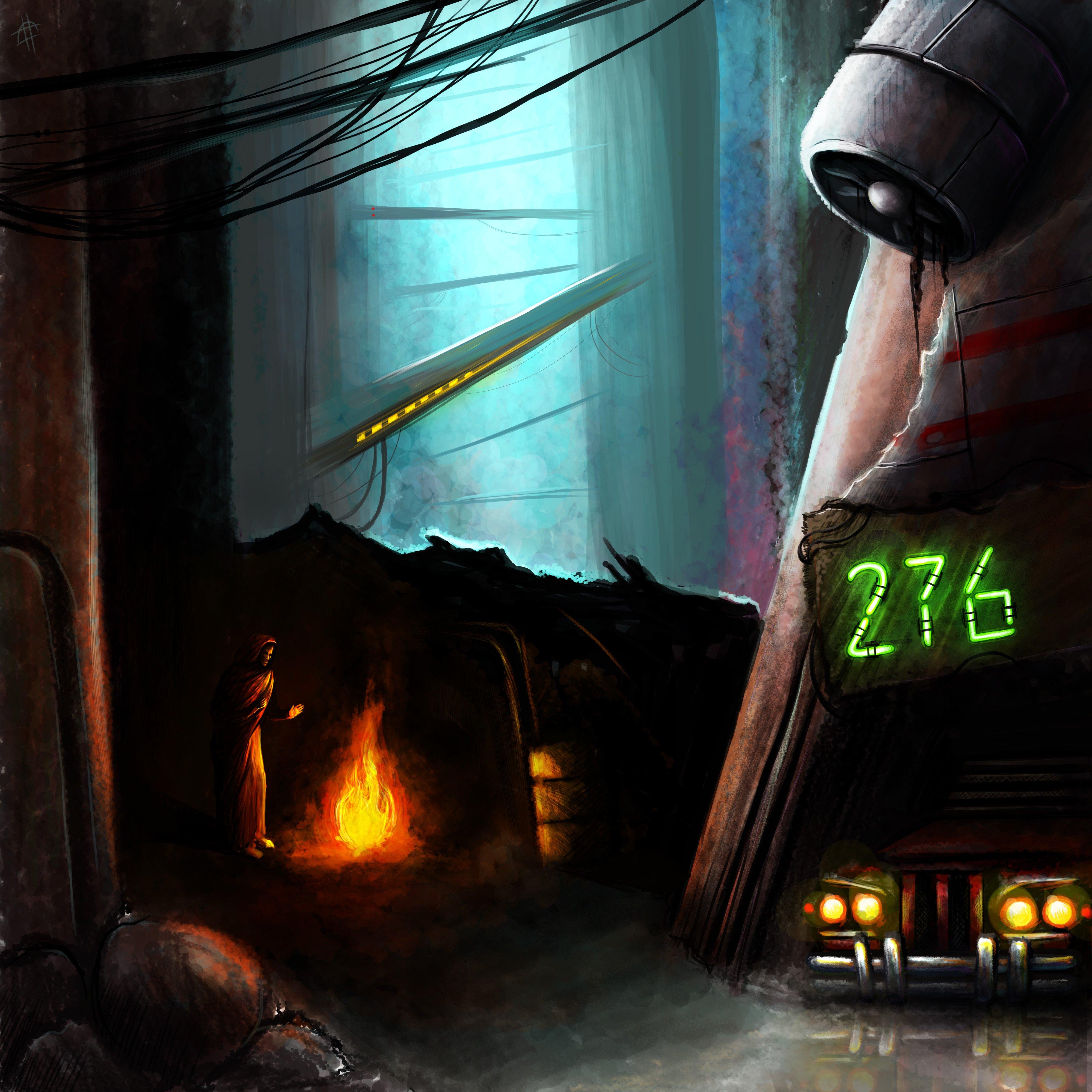 Прошлой ночью мне приснился очень крутой сон, где фигурировали киберпанково-постапокалиптические пейзажи. Один я поп ... - Изображение 1