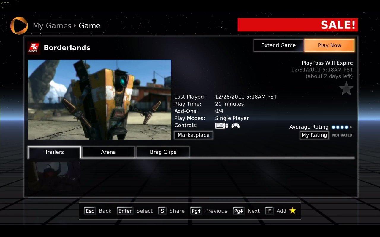 По-моему самое время потестировать OnLive - 3-хдневный playpass на Borderlands доступен бесплатно. В общем прикольно ... - Изображение 1