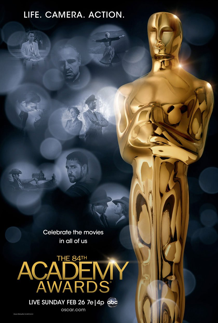 """Американская Киноакадемия представила постер 84-й церемонии вручения премий """"Оскар"""". На плакате изображены кадры из  ... - Изображение 1"""