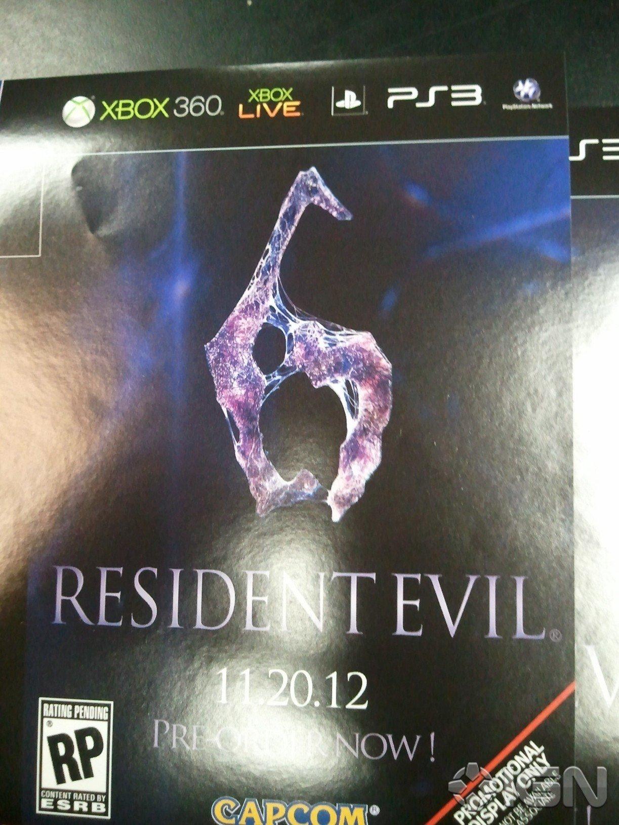 Некий источник сфотографировал промо-щиты с рекламой Resident Evil 6, которые якобы направлялись в Gamestop, дабы по ... - Изображение 1