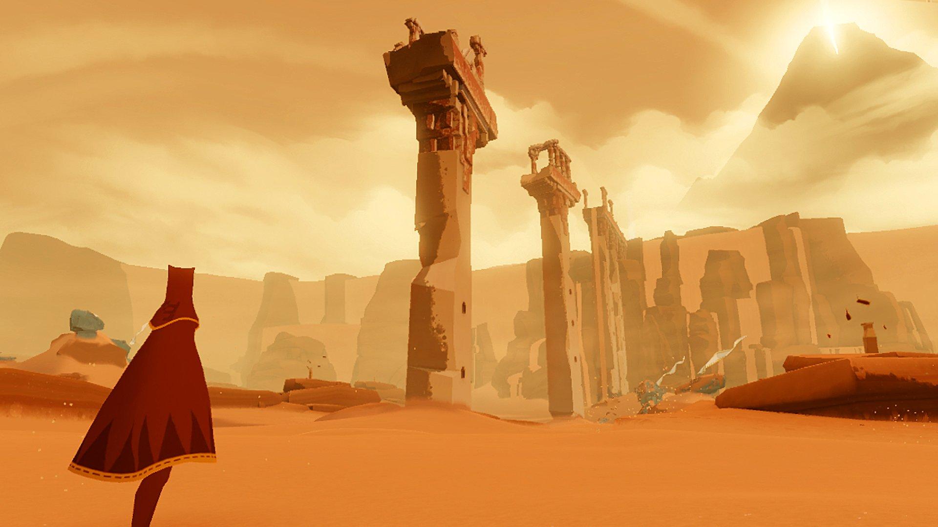 Игра от создателей Fl0w и Flower студии Thatgamecompany про грустный шарфик, который путешествует по пустыне и встре ... - Изображение 1