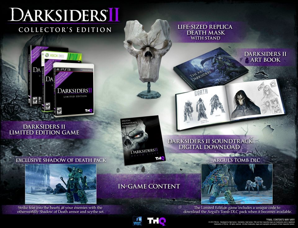 THQ Опубликовали коллекционное издание Darksiders 2, в который войдут:- Реплика в оригинальный размер, маска Смерти- ... - Изображение 1
