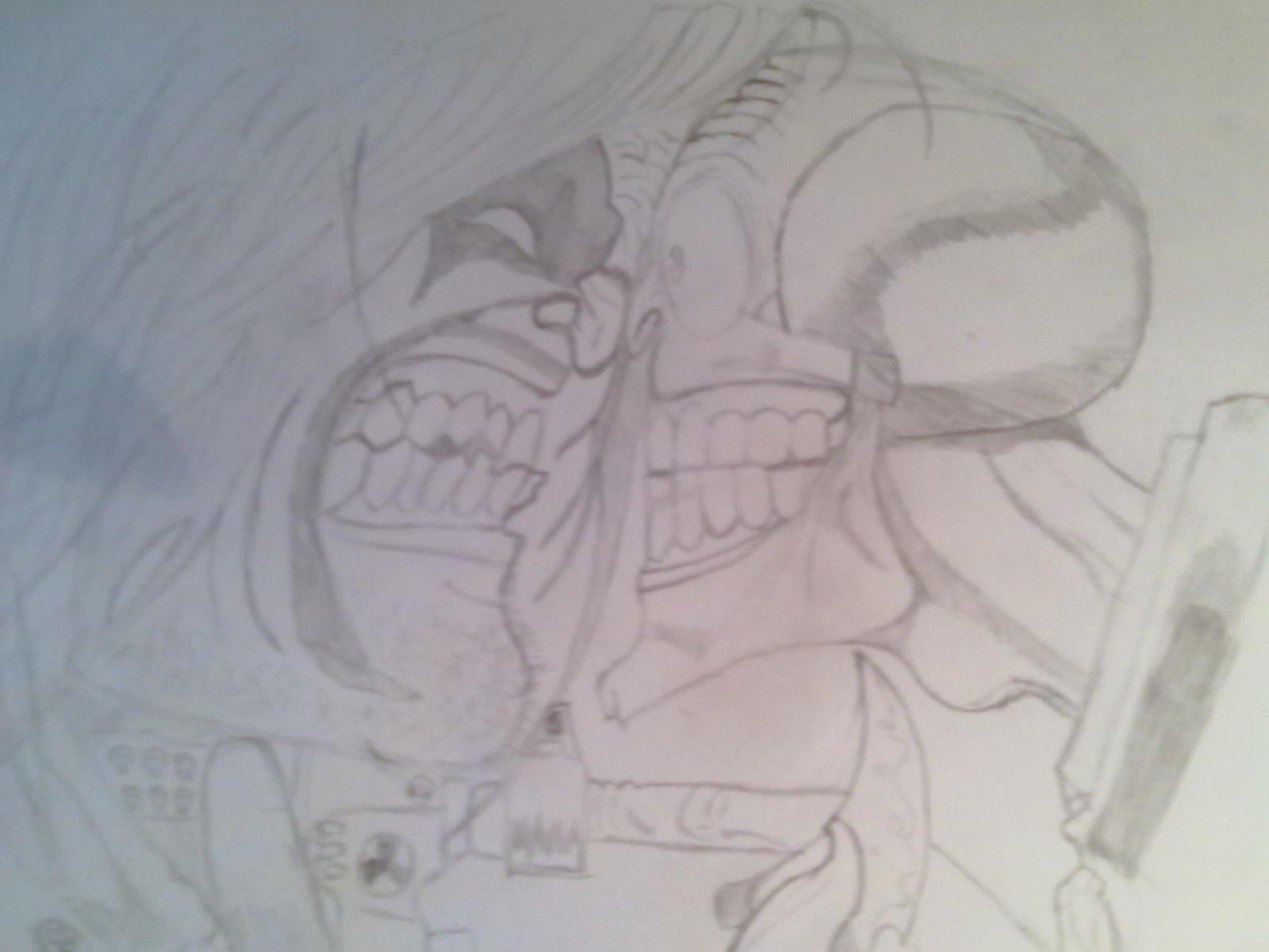 Вчера когда мне нечего было делать я решил срисовать два культовых персонажей комиксов Лобо и Маска (Lobo vs Mask).  ... - Изображение 2
