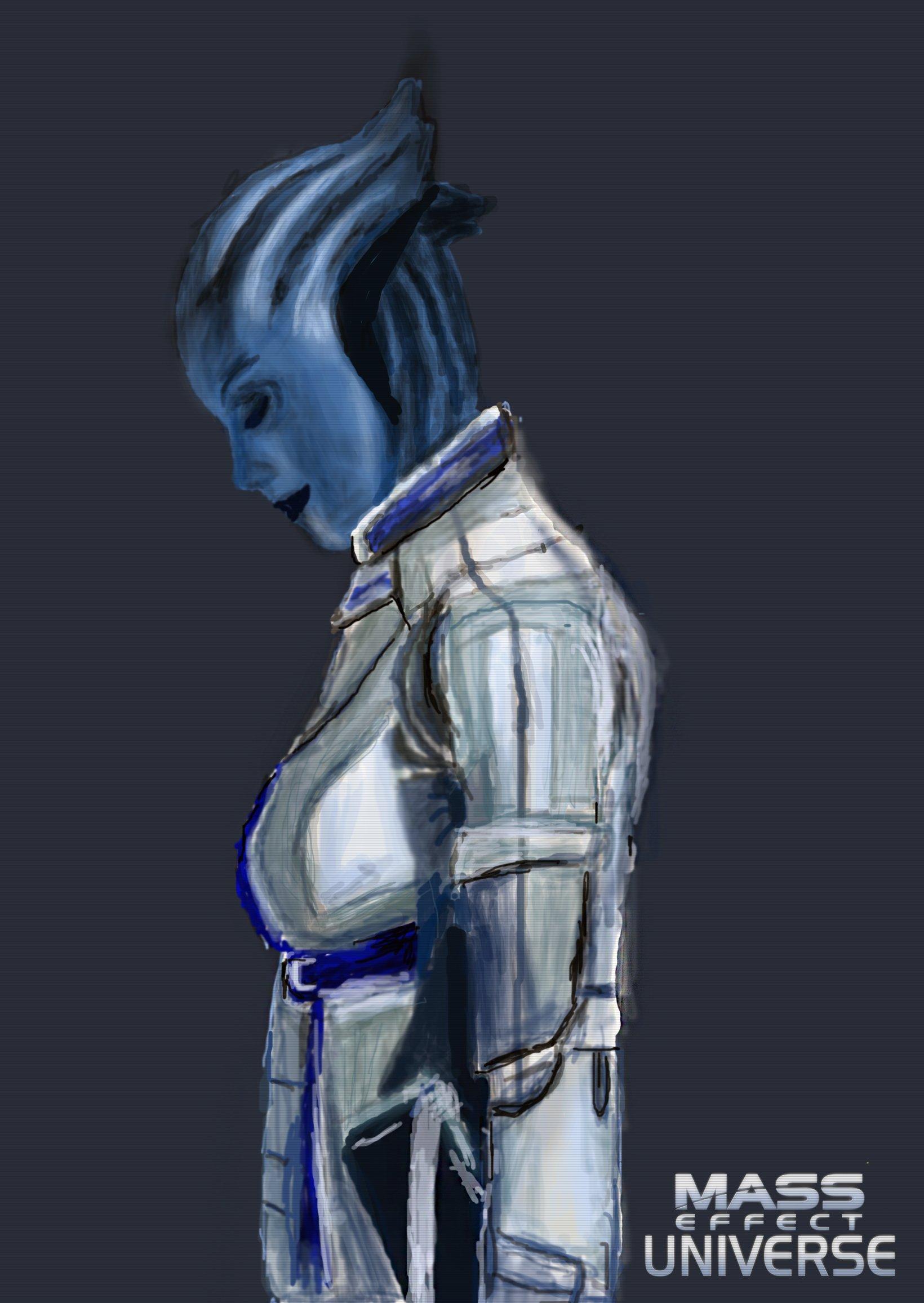 Привет, обитатели Канобу.Постарался нарисовать крайне шикарную представительницу расы азари, одного из самых интерес ... - Изображение 2