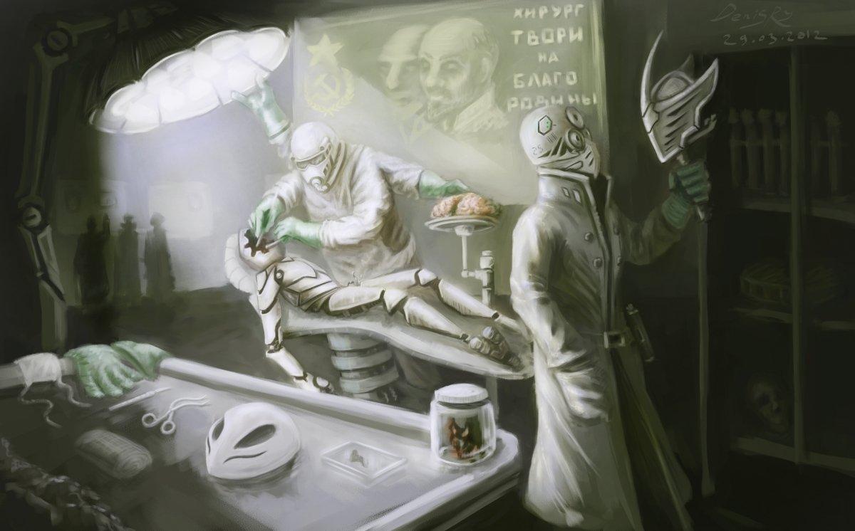 Хирургия дело тонкое, особенно если на дворе 3000 год, а советский союз победил всех на земле))Мой очередной арт на  ... - Изображение 1