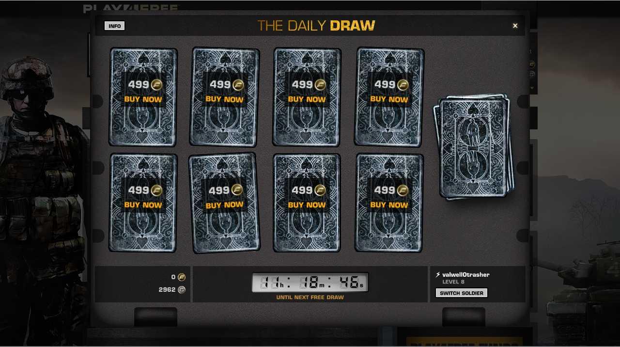 В игре Battlefield Play4Free теперь есть ежедневный розыгрыш, можно получать бесплатно случайную единицу оружия или  ... - Изображение 1