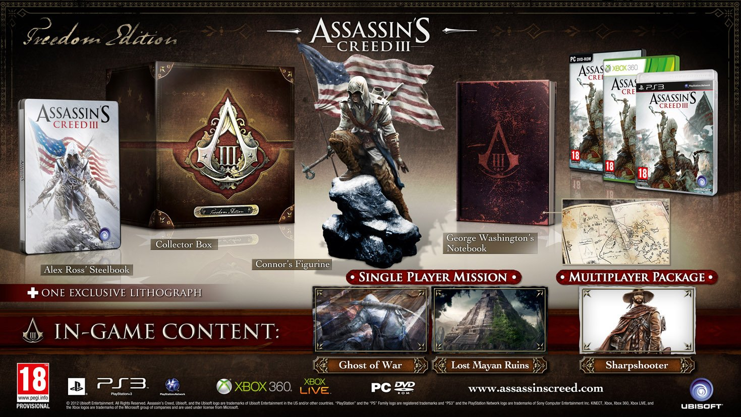 Ubisoft представила нам 3 варианта своих коллекционных изданий,названия которых: Join or Die Edition, Freedom Editio .... - Изображение 2