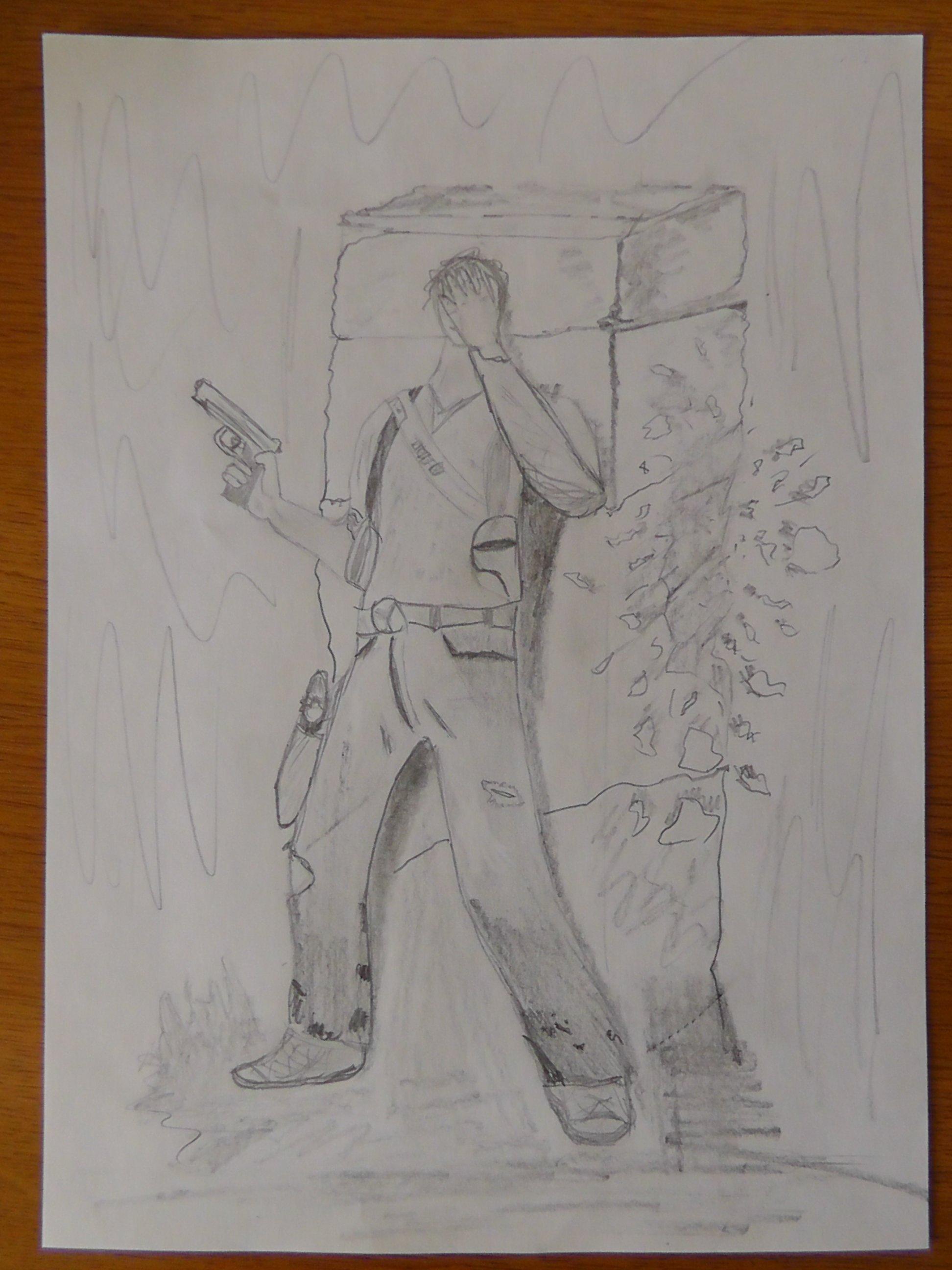 Рисую не важно, решил Написать  небольшой рассказ и картинку, выполненную карандашом.  - ..Запись 241..Место: у черт ... - Изображение 1