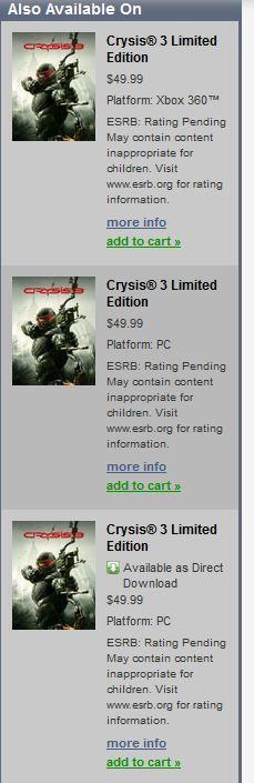 Совершенно «случайно», как это обычно бывает, в магазине Origin засветился бокс-арт Crysis 3.  Новую часть шутера Cr ... - Изображение 1