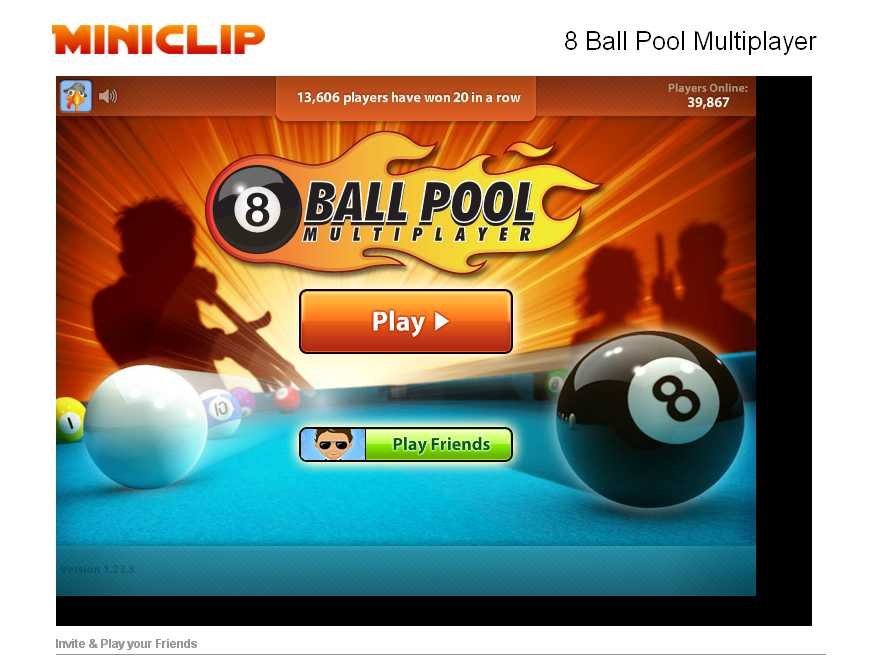 Miniclip запустили бильярд 8-ку.   1,5 миллиона пользователей сыграли хотя бы раз в 8 Ball Pool Multiplayer. Сейчас  ... - Изображение 1