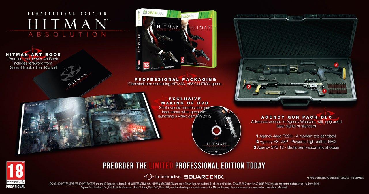 """Издатель Square Enix анонсировала ограниченную версию издания игры """"Hitman Absolution"""" , """"Professional Edition"""" кото ... - Изображение 2"""