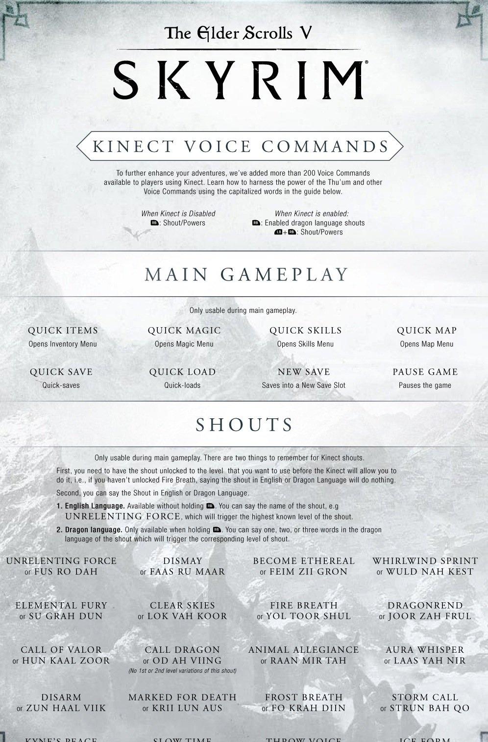 Skyrim получит подддержку Kinect сегодня - Изображение 1