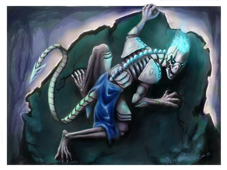 """Закончил работу над рисунком на конкурс по ККИ """"Берсерк"""", результатом не доволен, скилл нужно качать:(  Ночной кошма ... - Изображение 1"""