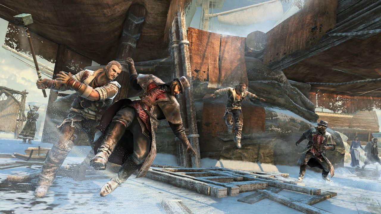 Ubisoft выкинула в сеть первые скриншоты ACIII. На трех кадрах изображена одна из карт сетевого режима кладбище кора ... - Изображение 3