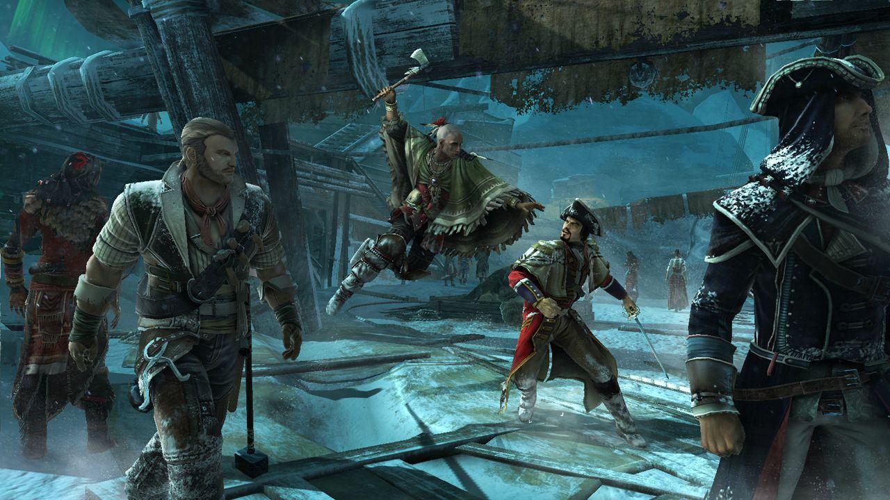 Ubisoft выкинула в сеть первые скриншоты ACIII. На трех кадрах изображена одна из карт сетевого режима кладбище кора ... - Изображение 1