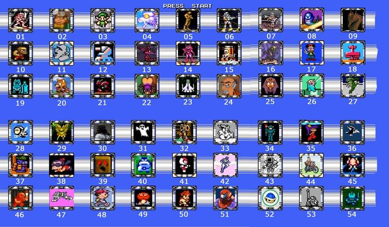 """Сайт OldFagsTV проводит конкурс """"Guess The Character"""". На картинке расположено 54 персонажа из различных видеоигр, п ... - Изображение 1"""