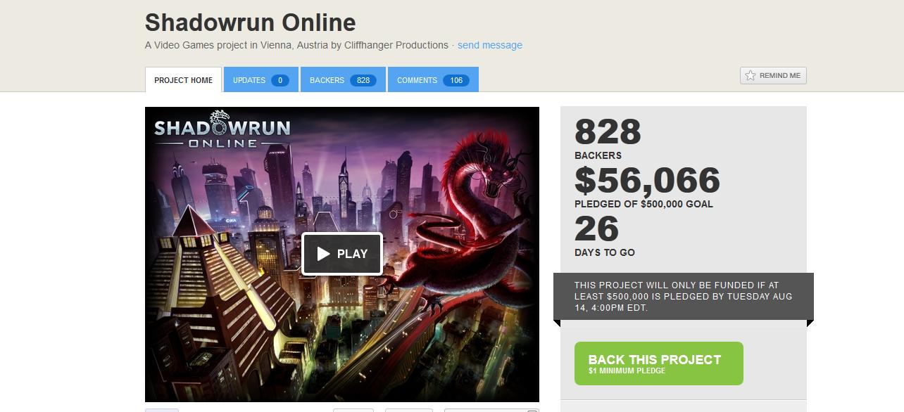 Сетевая игра по мотивам Shadowrun будет профинансирована фанатами - Изображение 1