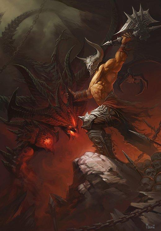Арт от игрока Diablo III Moore - the End of Demon.В целом смотрится очень неплохо, но стоит поработать над оружием D ... - Изображение 1