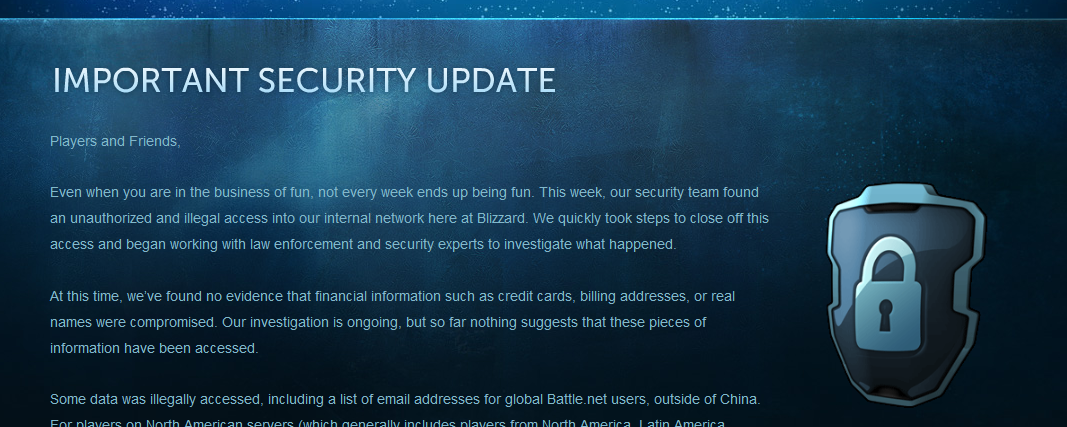 Онлайн-сервис Blizzard был взломан - Изображение 1