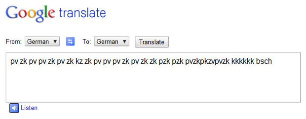 Если с помощью переводчика translate.google.ru вы переведёте фразу pv zk bschk pv zk pv bschk zk pv zk bschk pv zk p ... - Изображение 1
