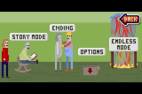 Меленький пиксельный человек в красном свитере оказывается в раздолбанном общественном душе: кран сломан, из посетит ... - Изображение 3